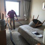 年始はみなとみらいにあるホテルのカーペット洗浄から定期清掃はスタートです