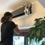 仕事でもプライベートでもお世話になっている社長さんのご自宅のエアコン清掃に伺いました