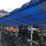 多物件で駐輪場屋根やベランダ間仕切り板が破壊…。台風15号の強風被害が続出です!
