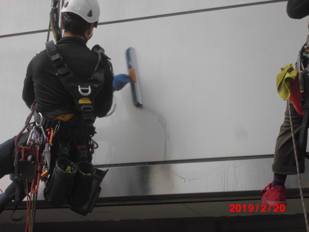 ロープ高所外壁洗浄_11